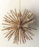 Glitter Bauble Rose Gold Spike