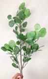 "Glitter Faux Eucalyptus Stem 30.5"""