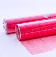 Red hessian cellophane florist wrap
