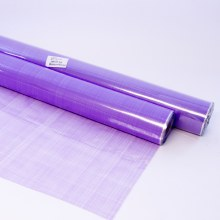 Purple florist hessian cellophane 100m