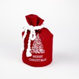 Merry Christmas Hessian Santa Sack 15cm x 29cm