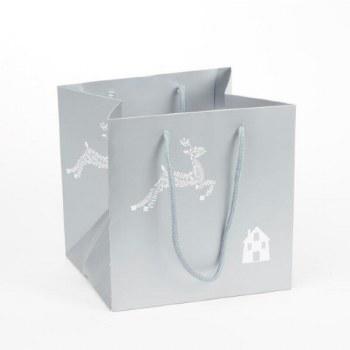 Reindeer Silver Christmas Florist Bag x 10