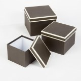 Florist Hat Boxes Black/ Cream x 3