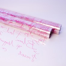 Strong pink scriptum cellophane