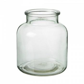 Glass Jar Green 14cm x 16cm