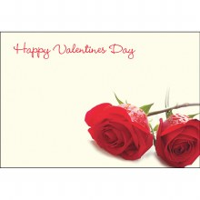 Happy Valentines day florist cards x 50 small