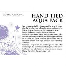 Florist Aqua Pack Care Cards x 100pcs