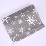 Snowflake Christmas Burlap Wrap 36cm x 5y