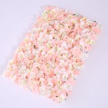 "Artificial Hydrangea Flower Wall Pink/Cream 23"" x 16"" approx"