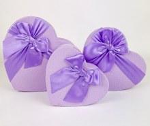 Florist Heart Hat Box set x 3 Lilac