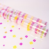 Multi colour daisy cellophane wrap 80cm x 100m