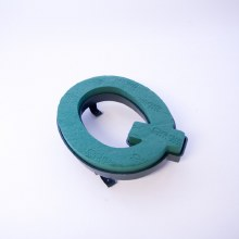 Oasis clip on foam letter Q