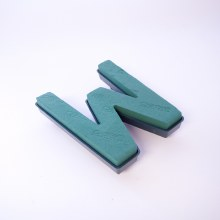 Oasis clip on foam letter W