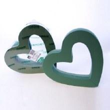 Open heart florist foam shape