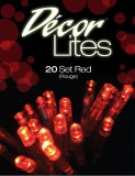 20 battery LED red decor lights