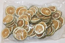 250g dried orange slices green