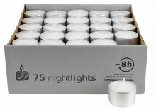 75 tea light long burning candles