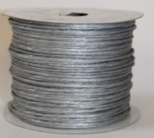 Silver paper covered craft wire 50m