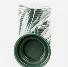 Florist Junior Bowl Plastic Green x 25pcs