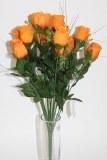 Orange closed rose bush