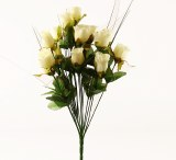 Ivory silk closed bush with 14 stems, height-45cm