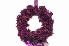 35cm Purple hydrangea door wreath