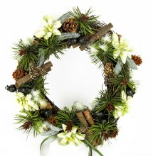 Christmas edewiess wreath ring