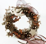 Copper Christmas door wreath