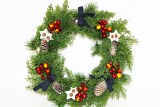 Christmas cone natural door wreath