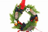 Christmas spruce wreath with star decoration