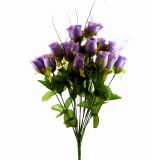 Artificial Dew Drop Roses Lilac Bunch