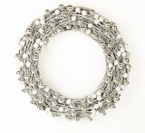 Silver & White Rattan Christmas Wreath