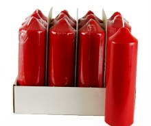 Red Church Candles 165mm x 50mm x 12Pcs