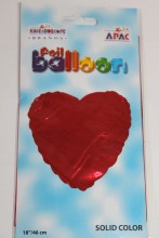 Red heart foil balloon 18in