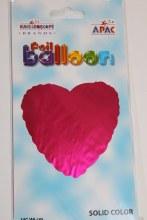 Pink heart foil balloon 18in
