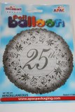 25th anniversary foil balloon 18in