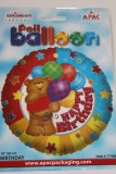 Happy birthday bear foil balloon 18in