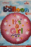 Its a girl foil balloon pink 18in