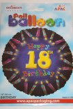Happy 18th birthday foil balloon 18in