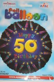 Happy 50th birthday foil balloon 18in