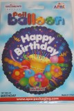 Happy birthday cake foil balloon 18in
