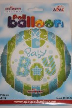 Baby boy foil balloon 18in