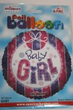 Baby girl foil balloon 18in