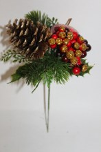 Christmas pine cone apple pick x 6 stems