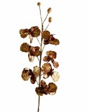 Metallic copper artificial silk orchid, height-80cm