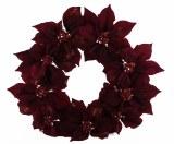 Burgundy Poinsettia Christmas wreath