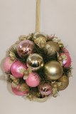 Pink and Champagne 12in bauble