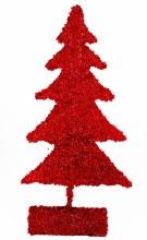 "Red glitter Christmas tree 25"""