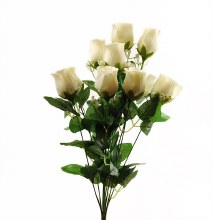 Cream Artificial Rose Bunch