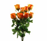 Orange Artificial Rose Bunch